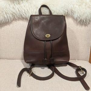 Vintage Coach Backpack Dark Brown Leather 9791